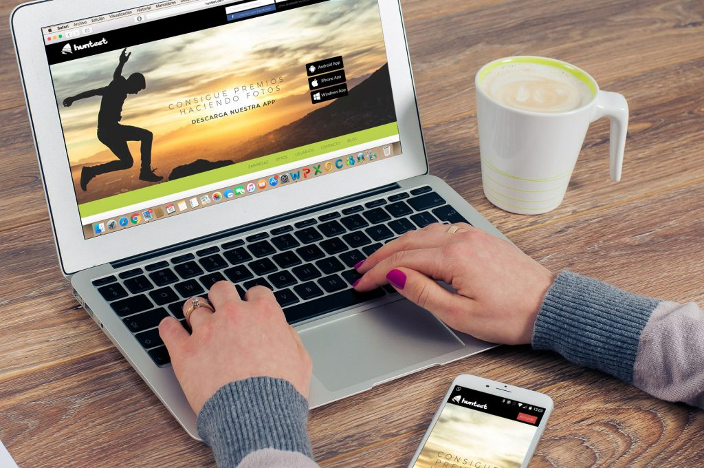 Nuevo diseño web de Hunteet