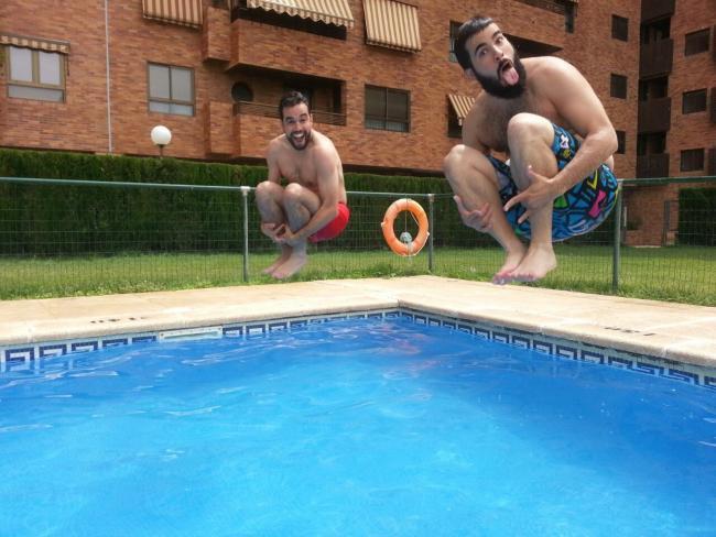 Jorge realizando el reto Summer time