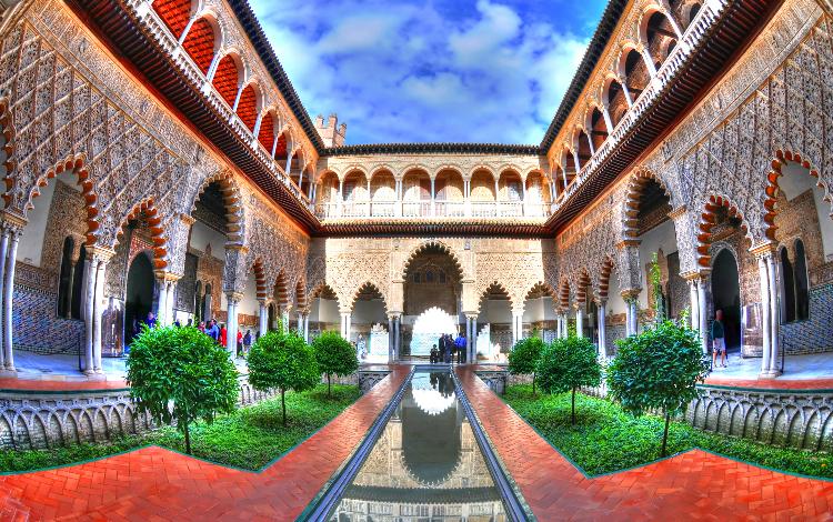 Real Alcazar de Sevilla, ambientación de Dorne en la serie Juego de Tronos durante el rodaje en España