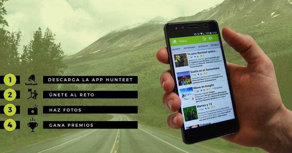 Descarga la app Hunteet, únete al reto, haz fotos y ¡podrás ganar premios!