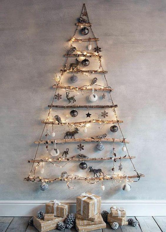 Árbol de Navidad de palos