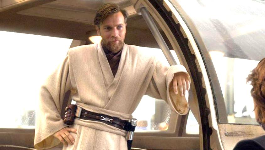 Ewan McGregor actor de Obi wan Kenobi en una escena de la pelicula Star Wars