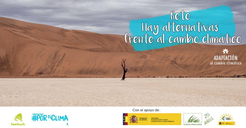 Reto fotográfico en la app Hunteet Hay alternativas junto con ECODES en la lucha contra el cambio climático #PorElClima en el Día Mundial del Agua