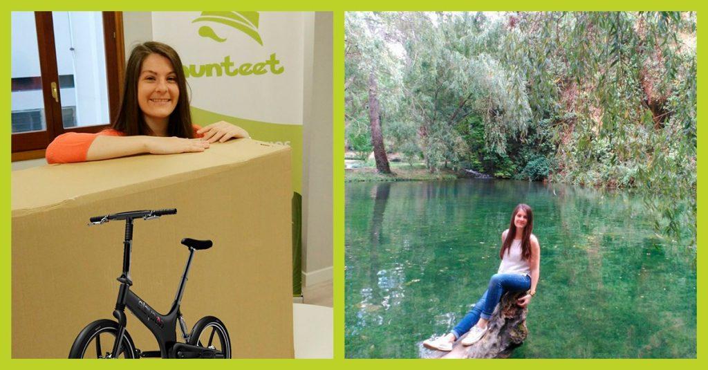 Alba ganadora del reto hay alternativas de ECODES del premio de una bicicleta plegable