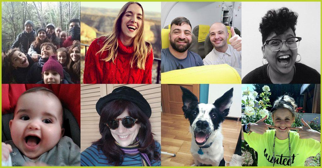 Collage de algunos de los participantes del reto express en el que ganar premios subiendo una foto de tu sonrisa