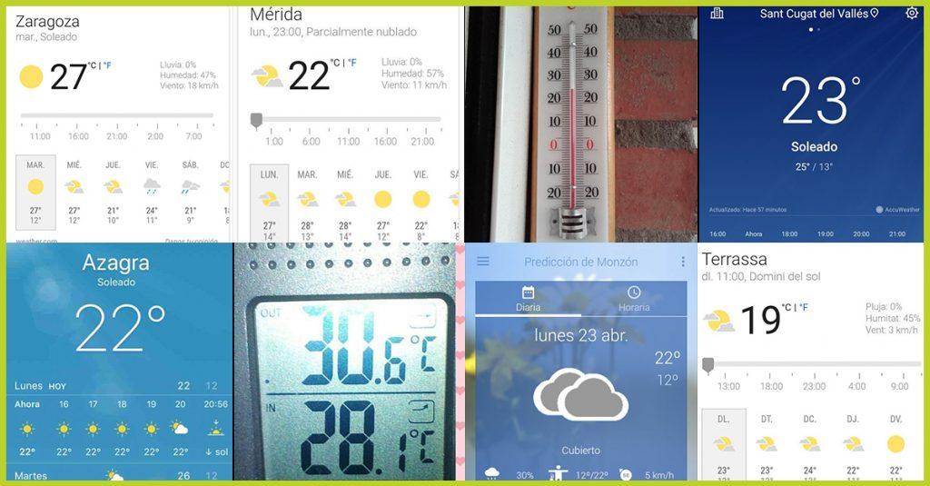Fotos de la temperatura que subieron los hunteers al reto express de Hunteet, reto fotográfico con el que ganar premios