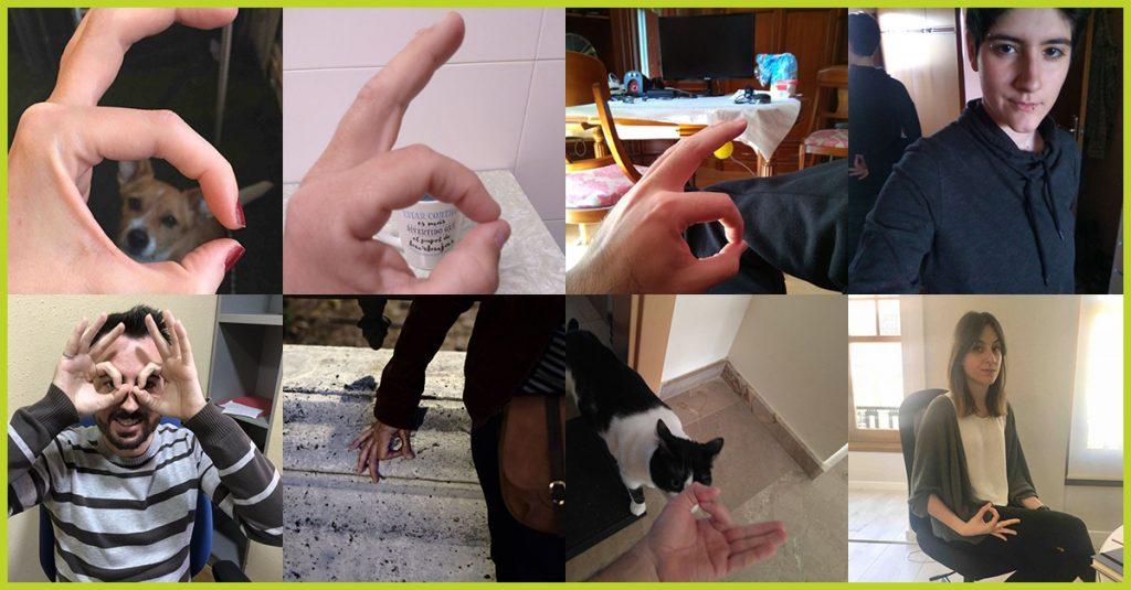 Participantes del reto express Ok hand, gana premios subiendo fotos a los retos de Hunteet