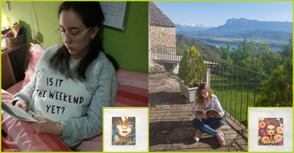 Ganadores del reto Disfruta leyendo ganaron un libro con portada de lujo de Mowgli y Frida Kahlo