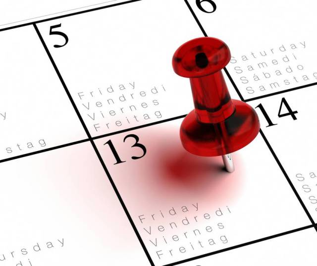 Unos martes día 13, otros viernes 13, el caso es que hay un día que mejor no jugarnos nada, no vaya a ser que...