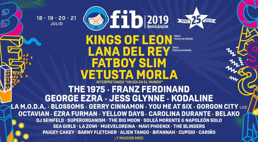 Cartel del FIB 2019 festivales que merecen la pena visitar