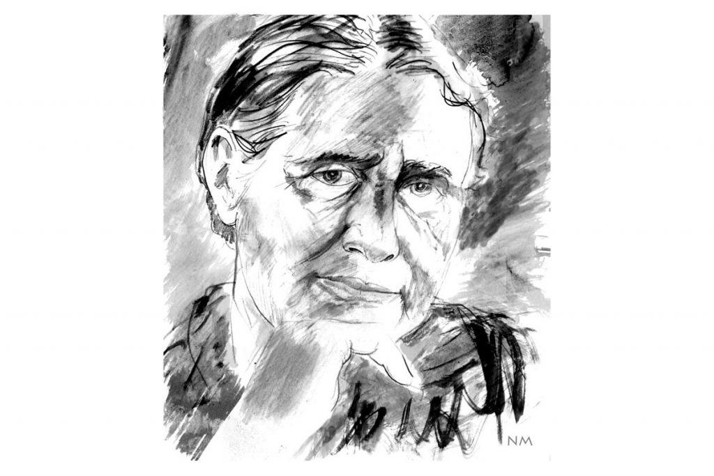 Retrato-de-Doris-Lessing-escritora-de-Mara-y-Dann