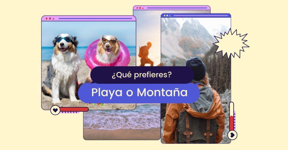 Montaña vs playa